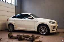 установка тюнинга Hamann Tycoon на BMW X6 тюнинговой компанией lkw-neva
