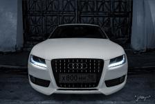 тюнинг Audi A5 решетка радиатора Rieger с двухцветной покраской